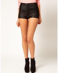 Asos Disco Shorts in High Shine - Lyst