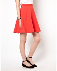 Boutique by Jaeger - Skater Skirt in Double Cloth - Lyst