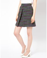 Boutique by Jaeger - Tweed Skirt with Front Pleat - Lyst