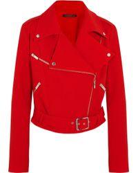 Christopher Kane Wool-crepe Biker Jacket - Lyst