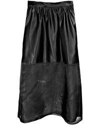 Cynthia Rowley Sheer Combo Maxi Skirt - Lyst