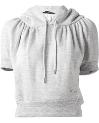 DSquared² Cropped Cocoon Sweatshirt - Lyst