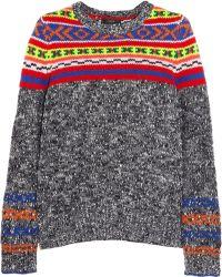 J.Crew Fair Isle Woolblend Sweater - Lyst