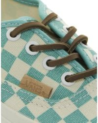 Vans - California Mint Checkered Sneakers - Lyst