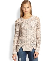 Cardigan | Gabrielle Open Cable-Knit Sweater | Lyst