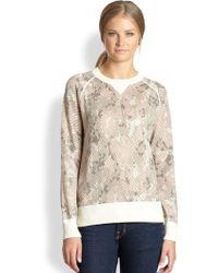 Cardigan | Snakeprint Wool Cotton Sweatshirt | Lyst