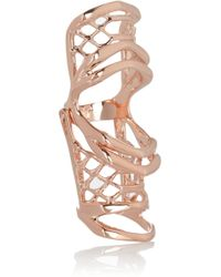 Dominic Jones - Leviathon Hinged Rose Gold-Plated Ring - Lyst