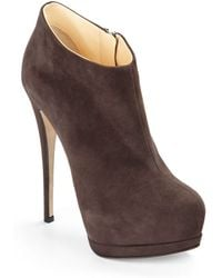 Giuseppe Zanotti Suede Double Platform Ankle Boots - Lyst