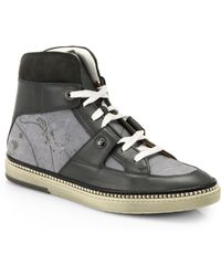 Jimmy Choo Splatter High-Top Sneakers - Lyst