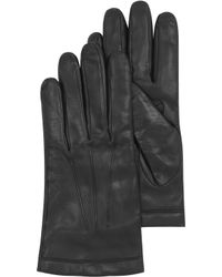 Moreschi | Black Leather Mens Gloves Wcashmere Lining | Lyst