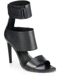 Tibi Evie Leather Ankle-Strap Sandals - Lyst
