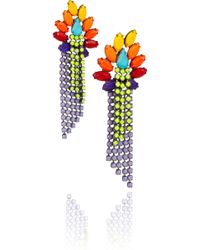 Tom Binns - Riri Painted Swarovski Crystal Earrings - Lyst