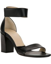 Chloé Gala Leather Sandals black - Lyst