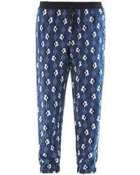 Lulu & Co Flowerprint Silk Trousers - Lyst