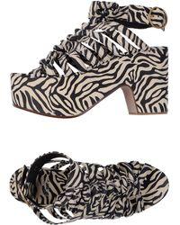 Michel Perry - Platform Sandals - Lyst