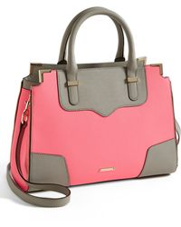 Rebecca Minkoff Amorous Saffiano Leather Satchel - Lyst