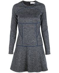 Thakoon Addition Flared Skirt Dress With Piping - Lyst