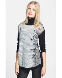 Trouvé Trouvé Turtleneck Mixed Knit Sweater - Lyst