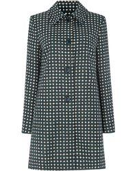 Dickins & Jones - British Wool Geo Print Coat - Lyst