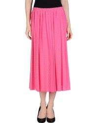 Silk And Soie - 3/4 Length Skirt - Lyst