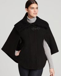 Via Spiga - Cape with Knit Detail - Lyst