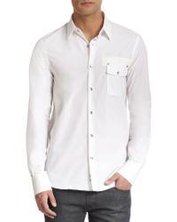 Diesel Black Gold Cotton Pocket Sportshirt - Lyst