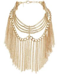 Topshop Bar Chained Choker - Lyst
