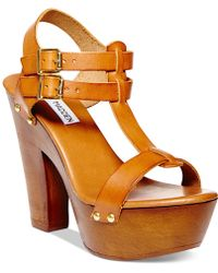 Steve Madden Women'S Linear Platform Sandals - Lyst
