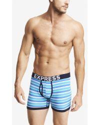 Express Multicolor Stripe Knit Boxer Briefs - Lyst