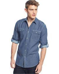 DKNY Printed Shirt - Lyst