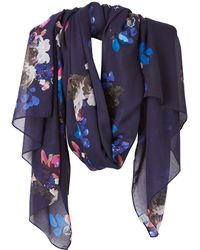 Joules - Wensley Floral Print Scarf - Lyst