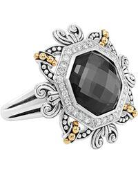Lagos Empress Hematite Doublet Ring - Lyst