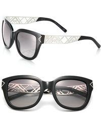 Tory Burch Chevron Arm 53Mm Square Sunglasses - Lyst