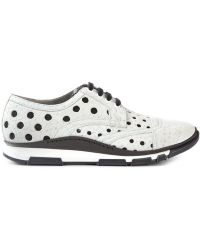 Dolce & Gabbana Perforated Sneakers white - Lyst