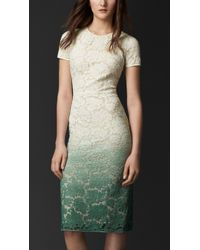 Burberry Dégradé Lace Dress - Lyst