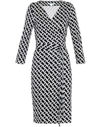 Diane von Furstenberg New Jeanne Two Dress black - Lyst