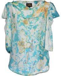 Vivienne Westwood Anglomania Blouse blue - Lyst
