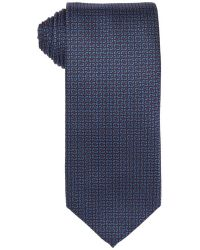 Gucci Blue And Red Dot Print Silk Tie - Lyst
