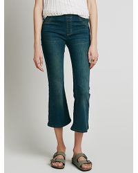 Free People Womens Pull On Cropped Flare - Lyst