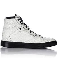 Balenciaga Cracked-Effect Sneakers white - Lyst
