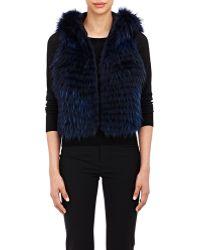 J. Mendel Raccoon Fur Vest blue - Lyst