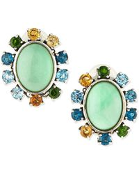 Stephen Dweck - Oval Variscite Clip-on Earrings With Multi-stone Rays - Lyst