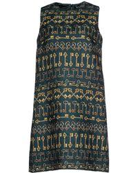 Dolce & Gabbana Short Dress green - Lyst