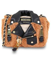 Moschino Biker Jacket Shoulder Bag - Lyst