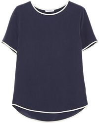 Equipment Riley Washed-silk Top - Lyst