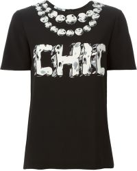 Moschino Cheap & Chic Chic Print T-Shirt - Lyst