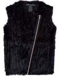 Marc By Marc Jacobs Abbey Rabbit Gillet - Lyst