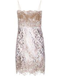 Mary Katrantzou Embellished Lace Dress - Lyst