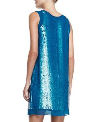 Shoshanna Leandra Sleeveless Sequin Mini Dress - Lyst