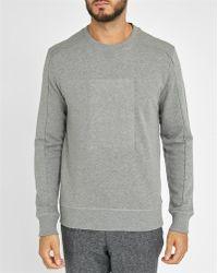 Calvin Klein   Mottled-grey Embossed Logo Sweatshirt   Lyst